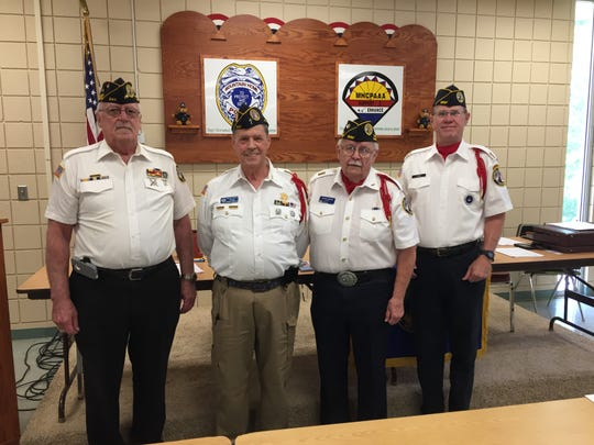The Mountain Home Chapter 30 of the Disabled American Veterans (DAV) recently installed new officers for the duty year 2019-2020. Pictured are (from left) Commander Dan Hall; Vice Commander, Dr. George Wolford; Adjutant, Mike Nighbert; and 1st Jr. Vice Commander, Daryl Downs. Pictured in the second photo is Treasurer David Butts. Dr. Wolford also serves as the DAV Department of Arkansas Vice Commander. DAV helps any and all veterans secure benefits from the VA, free of charge and provides a transportation van to the Little Rock VA hospital. If you need a ride to the hospital or would like to volunteer to drive the van, please call (870) 425-2003.