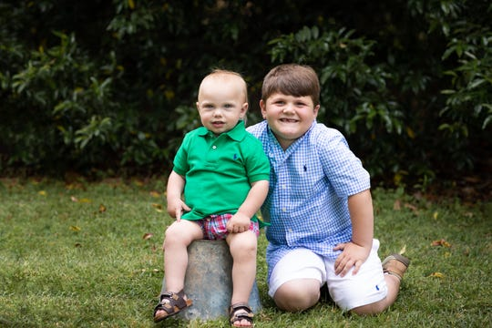 Teddy Fletcher is pictured with his older brother Pierce Stevens.