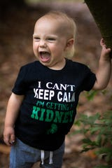 Teddy Fletcher, 2, is getting a kidney transplant from his mother, Leigh Fletcher.