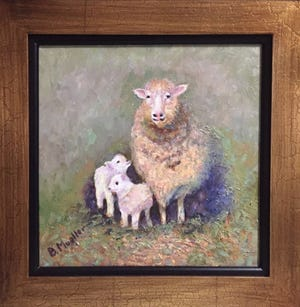 """""""Proud Mama"""" oil painting by Barbara Mueller"""