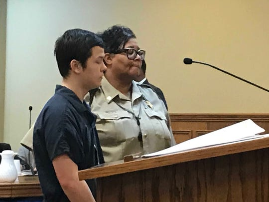 Ethen Vanderpool, 15, appears in Wilson County Criminal Court on May 31, 2019. Vanderpool pleaded not guilty in the death of Mt. Juliet High School student JayShawn Taylor, 16. Trial was set for May 18-22, 2020.