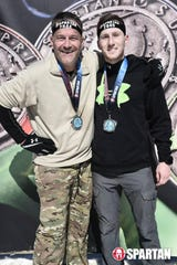 Brian and Brady Gaulke at a Spartan Race in March 2019.