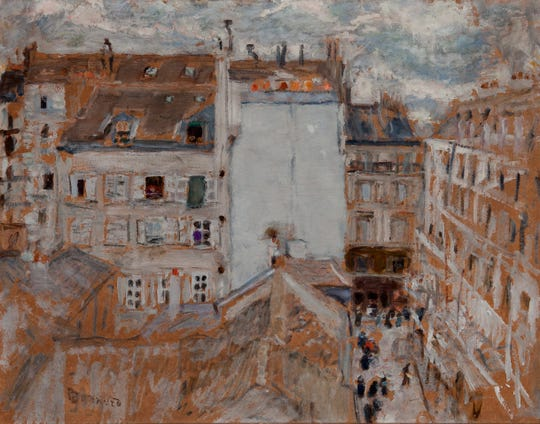 """Rue Tholozé,"" Pierre Bonnard, ca. 1885 is part of the Dixon Gardens and Gallery Collection at The Baker Museum only until March 22."