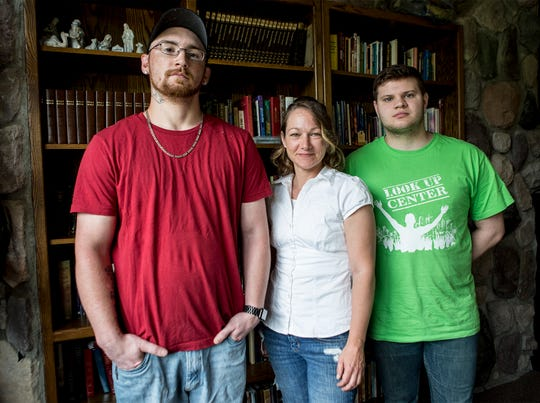 David Stinehelfer, Dawna Richards and Brandon Vaughn are the first three graduates to complete training at the Look Up Center.