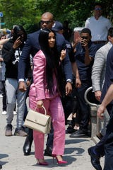Cardi B arrives at Queens Criminal Court, Friday, May 31, 2019, in New York.