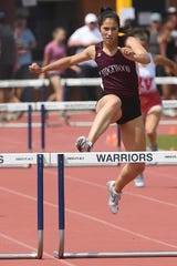 The NJSIAA Outdoor Track and Field Group Championships at Franklin High School in Somerset on Friday, May 31, 2019. Katherine Muccio, of Ridgewood, in the 400m Hurdles.