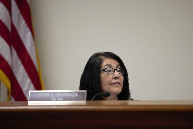 Mesilla Mayor Nora L. Barraza seen during the Board of Trustees meeting at Mesilla Town Hall on Tuesday, May 28, 2019.