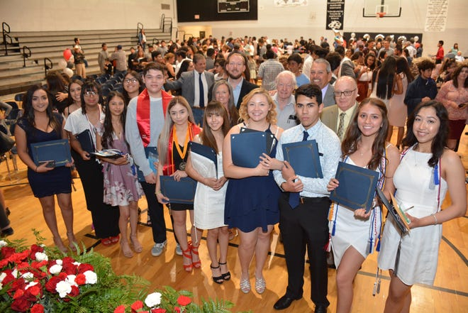 About $4.5 million in scholarships were awarded to students at Chaparral High School during a ceremony May, 16, 2019.
