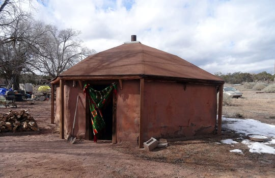 The hogan is considered a sacred home for the Navajo people and is where most traditional ceremonies are held. Though most members of the Navajo Nation live in modern homes today, some keep hogans for ceremonies. (Photo courtesy of Natalia Miles)