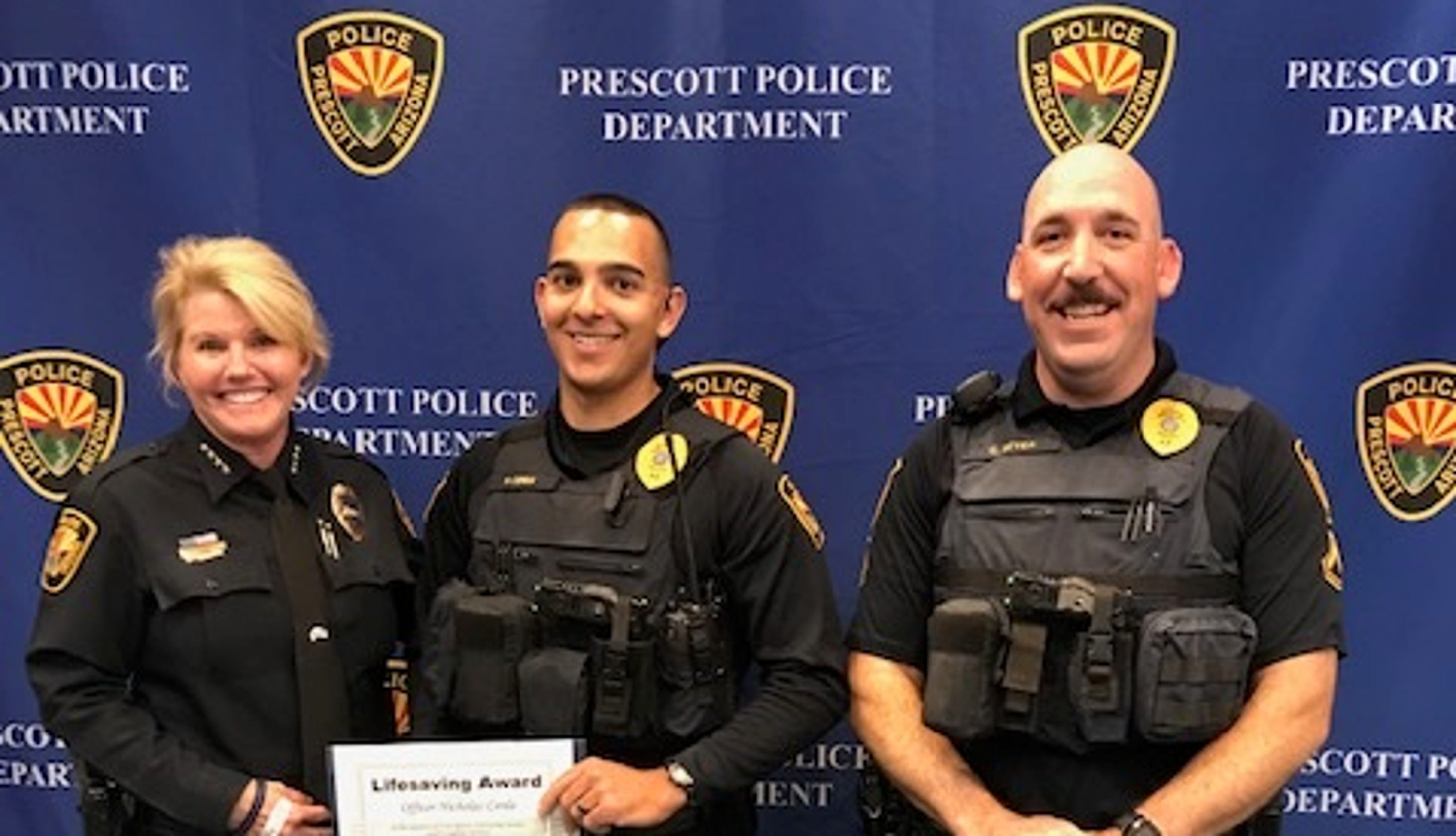 Officers Were Honored On Wednesday For Saving A Man's Life