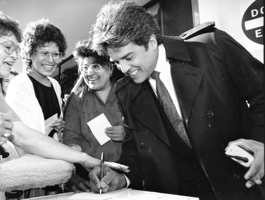 "In 1991, Erik Estrada took time to sign autographs for fans in Phoenix during the filming of ""The Sounds of Silence,"" which was released the following year."