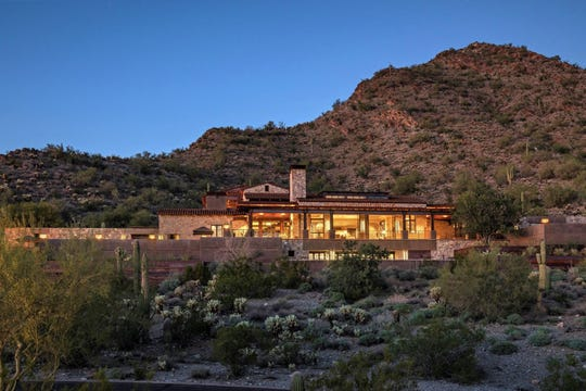 Frank E. Burgess purchased this hillside mansion in Scottsdale's DC Ranch for $6.59M.