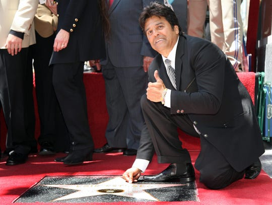 Erik Estrada gets a star on the Hollywood Walk of Fame on Hollywood Boulevard on April 19, 2007.