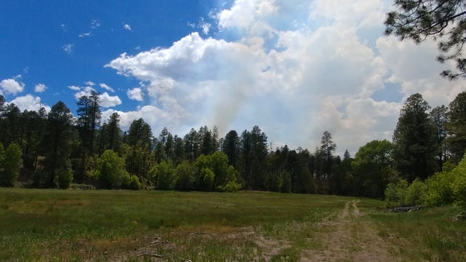A lightning-caused wildfire spread to 150 acres near Alpine and was still 0% contained by Friday morning.