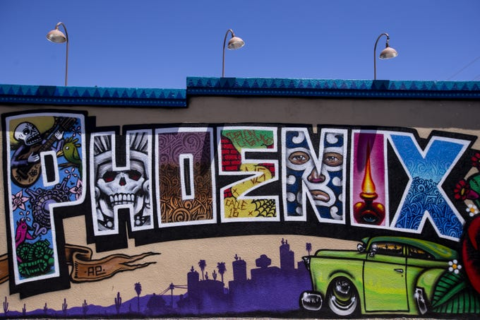A mural is pictured on Friday, May 31, 2019, near Barrio Cafe in Phoenix.