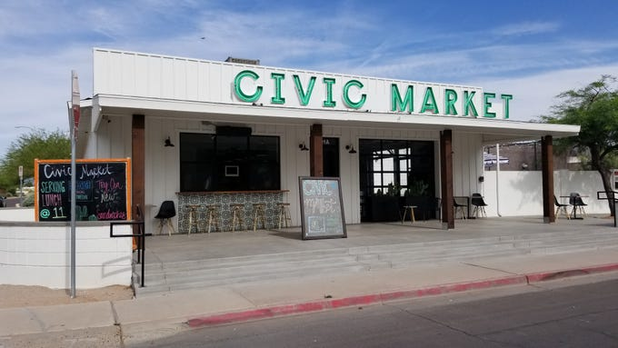 Civic Market, a one-stop shop offering wood-fired pizza, coffee, local goods and salon services, opened on Washington Street in April.