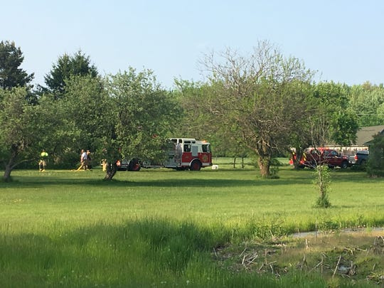 Kimball Township firefighters responded to a barn fire in the 1200 block of Richman Road early Friday night.