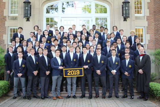 Trinity-Pawling School's 2019 graduating class is pictured.
