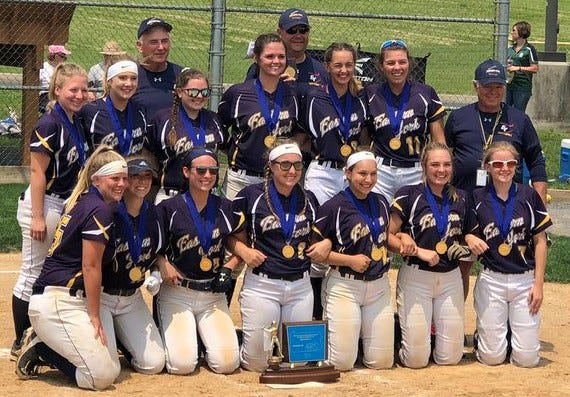 The Eastern York softball team is shown after winning their District 3 Class 4-A championship.