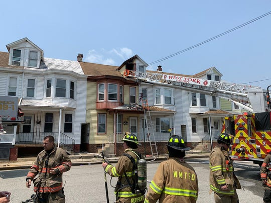 Crews responded to a fire in the first block of North Seward Street Friday, May 31. Christopher Dornblaser photo.
