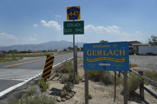 One of Gerlach's older signs, to be auctioned off in October, is seen in this picture in 2018.