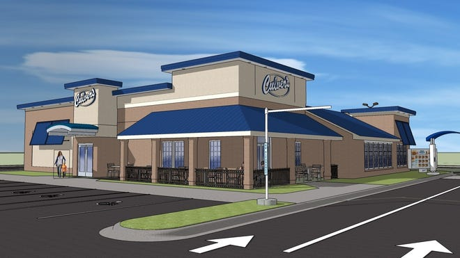 This rendering shows what the Culver's restaurant planned for Richmond's far-east side will look like.