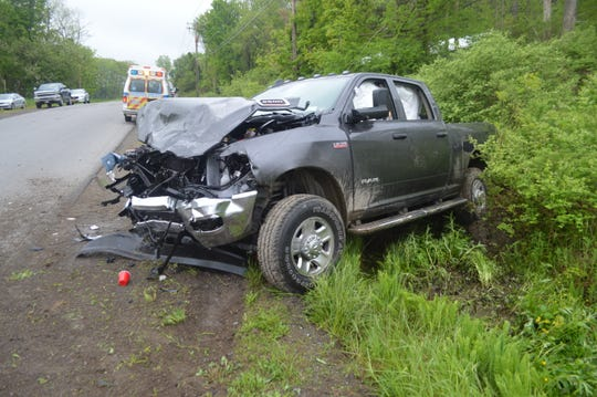 Three people were killed and six more were injured when a pickup crashed into a minivan in Sheldon, Wyoming County, on May 26, 2019.