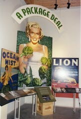 This art piece at The National Steinbeck Center feature Marilyn Monroe and artichokes.