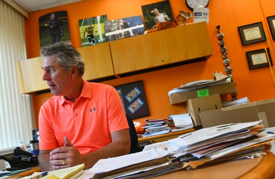 Tech Principal Charlie Eisenreich reflects on the last day of school Friday, May 31, in his office at the school in St. Cloud.