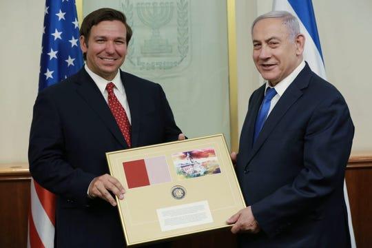 Gov. Ron DeSantis meets with Israeli Prime Minister Benjamin Netanyahu in Jerusalem.