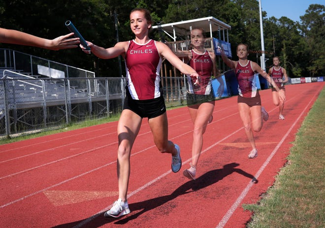 Chiles senior Emily Culley is the 2019 All-Big Bend Runner of the Year in girls track and field after recording fourth-place state finishes in the 1600- and 3200-meter runs, both with top-seven all-time area times, while also running a leg on the Class 3A state runner-up Timberwolves' gold medal-winning 4x800 relay that set an all-time area best time.