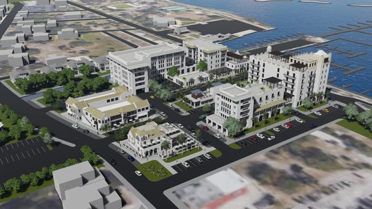 Audubon Development of West Palm submitted this $85 million proposal to redevelop the H.D. King site in downtown for a 120-room Marriott Hotel, 60 condos, 40,00 -square foot retail space, space for two restaurants, 300 surface parking spaces. The project would be named King;s Landing.