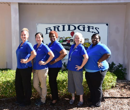 Bridges Early Learning Center staff, from left, Maria Skovsgard, Erika Knok, Executive Director Brenda Neely, Dawn Quinn and Stacy King.
