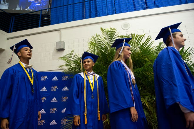 Martin County High School's graduates earned their diplomas during the school's commencement ceremony Thursday, May 30, 2019, at the high school in Stuart. The school will move away from block scheduling for the 2020-21 school year.