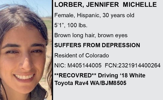 This is part of the flier that authorities created to help find Jennifer Lorber, whose body was discovered in the ocean off Paradise Cove.