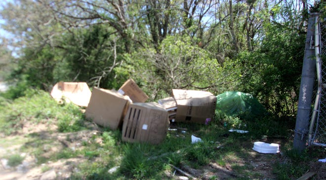 Trash dumped on West Chestnut Avenue in April led to a Mullica Hill delivery company being fined $2,500 in May, according to Vineland officials.