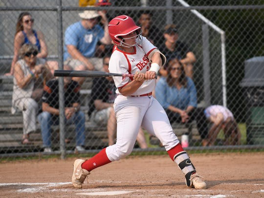 Delsea's Diana Parker up to bat during the state semifinal game against Middletown North on Friday, May 31, 2019.