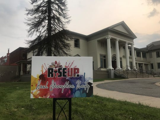 RISE UP Central Wisconsin, a community-driven and participatory mural arts organization, held its first benefit at the Wausau Museum of Contemporary Art on Thursday, May 30, 2019 to reveal a new mural for the side of the Frontier building.