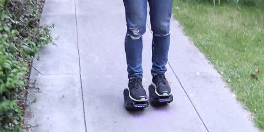 MotoKicks Hover Shoes are a mobility option for grads of all ages. Each one houses a motor-driven wheel, a suite of sensors and a self-balancing system, so that the slightest tilt propels them forward or back. They cost $198 and hit store shelves this week.