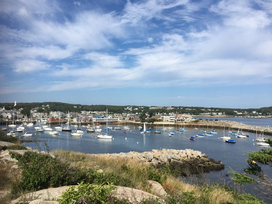 The Headlands, a public park a few minutes' walk from the center of town, offers a panoramic view of Rockport, its harbor and the coast.