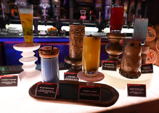 Guests have flocked to Oga's Cantina in the new Star Wars: Galaxy's Edge. The hot spot serves both alcoholic and non-alcoholic drinks.