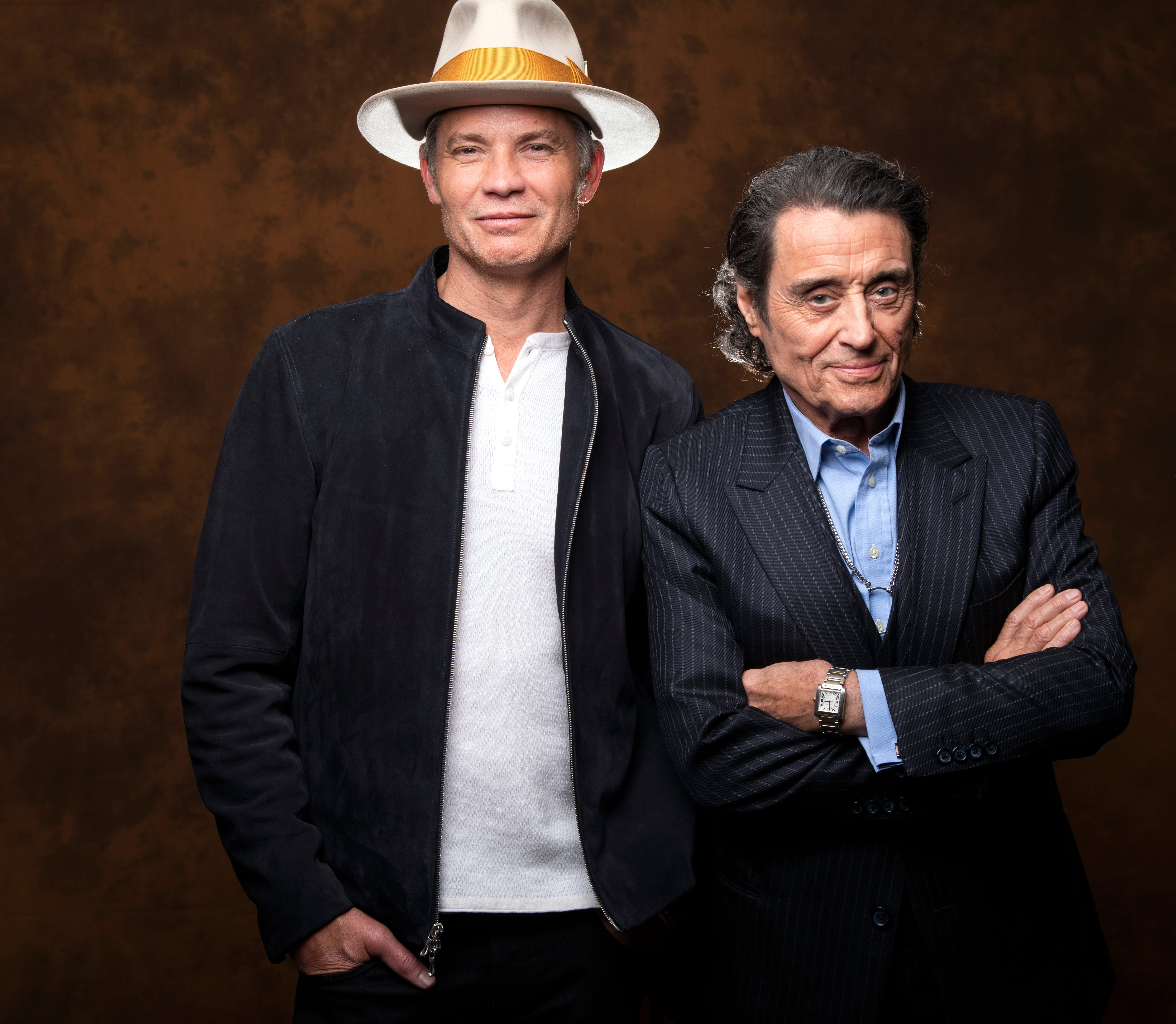 3/21/19 2:57:14 PM -- Los Angeles, CA, U.S.A.: Portrait of Tim Olyphant and Ian McShane who are reprising their roles of Seth Bullock and Al Swearengen from the HBO series