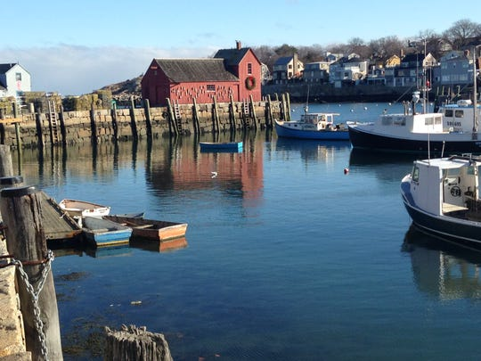 Motif No. 1, reputed to be one of the most painted subjects in America, in Rockport Harbor on a winter's day.