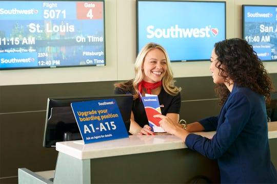 Travelers will no longer receive paper ticket jackets at the Southwest Airlines ticket counter. The airline is eliminating them as more travelers move to mobile boarding passes.