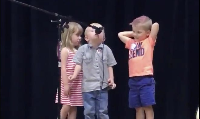 """A little boy hijacked his family reunion's talent show to sing the """"Star Wars"""" imperial march. The video has gone viral."""