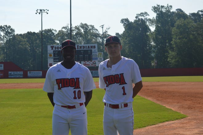 Tioga's Issac Williams (left) and Blake McGehee earned top honors on the Louisiana Baseball Coaches Association's All-Region 4 team.