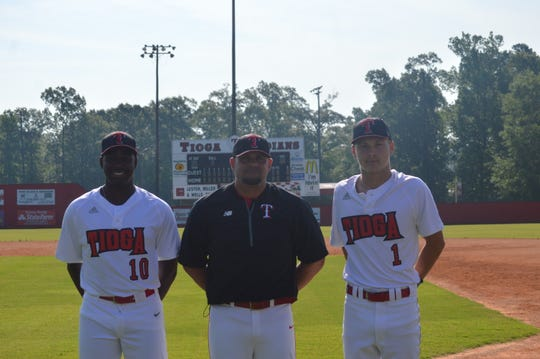 The 2019 All-Cenla baseball team is led by Tioga's Issac Williams (left), Dave Montiel and Blake McGehee.