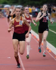 Voorhees girls: 1st: Lauren Wagner; 2nd: Emma McGill NJSIAA track state group championship at Central Reg. High School. 5/31/19  Photo/James J. Connolly/Correspondent