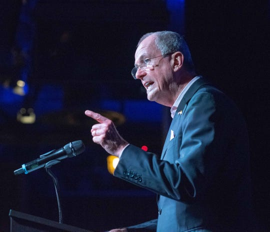 Gov. Phil Murphy speaks at the Garden State Equality Ball at Asbury Lanes, Asbury Park. Photo/James J. Connolly/Correspondent
