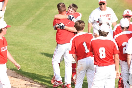 Albany baseball coach David Fairchild led his team to the state tournament in 2019. It remains to be seen whether the Lions will have a chance to return.